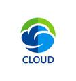 eco cloud icon logo vector image