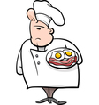 english chef cartoon vector image