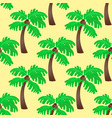 leaves green palm trees seamless pattern vector image