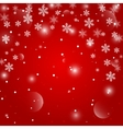 Red Christmas background EPS10 vector image