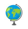 School Globe - model of Earth Model of celestial vector image