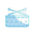 silhouette snare drum musical instrument to play vector image