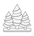 tree with string lights christmas related icon vector image