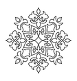 Various isolated winter snowflake vector image
