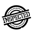 Inspected rubber stamp vector image