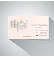 Calling card vector image