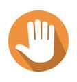 five fingers gesture vector image