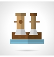 Flat icon for marine bollard vector image