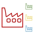Factory sign Set of line icons vector image