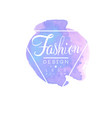 fashion logo design badge for clothes boutique or vector image