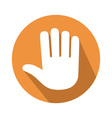 five fingers gesture vector image