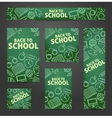 Set web of banners Back to school vector image