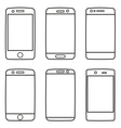 Smartphone icon set isolated on white vector image