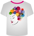 T Shirt Template- Pretty face vector image