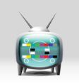 TV cartoon retro set vector image