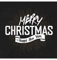 vintage lettering christmas blackboard vector image