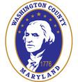 Washington county seal vector image