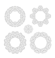 set of round ornament frames vector image