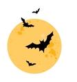 Bats Halloween vector image