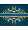 vintage greeting card with golden floral pattern vector image vector image