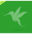 Hummingbird abstract vector image