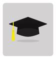 flat icon graduation cap vector image vector image