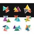 Collection of triangle web boxes - banners vector image