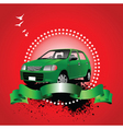 car advertising vector image