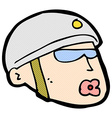 comic cartoon policeman head vector image