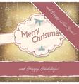 happy holidays vintage vector image