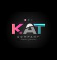 Kat k a t three letter logo icon design vector image