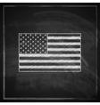 vintage with United States flag on blackboard vector image