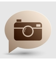 Digital photo camera sign Brown gradient icon on vector image