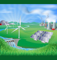 electricity or power generation methods vector image