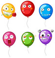 balloons with differnet facial expressions vector image