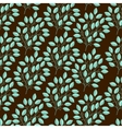 Natural seamless pattern with branches of leaves vector image