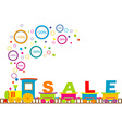 Sale train vector image vector image