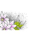 flower on the abstract background vector image vector image
