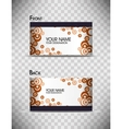 set of colorful business cards vector image vector image
