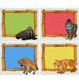 Frame design with wild animals vector image