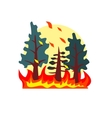 Blazing Forest Natural Force Sticker vector image