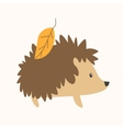Cartoon Cute Hedgehog vector image