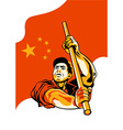 Chinese worker vector image