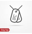 Dog tag icon vector image