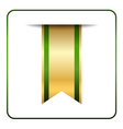 Green gold bookmark isolated vector image