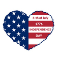 Independence Day Flag-13 vector image