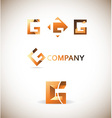 Letter g logo icon set vector image