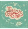 Merry Christmas doodle greeting card vector image