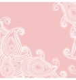 paisley pink vector image
