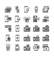 Pay online and mobile banking icons vector image